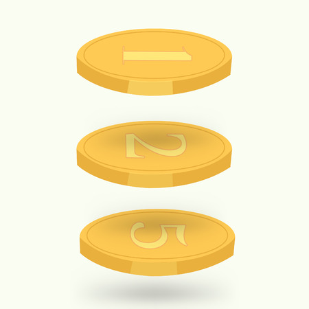 Vector coin for great business, isolated on white, great for your presentation, infographic