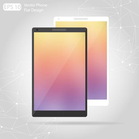 technic: Vector flat technic laptop phone tablet.