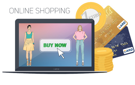 carport: On line store. Sale, Laptop and smart phone with awning
