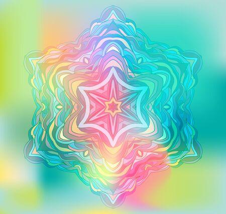 element for design: Abstract Flower Mandala. Decorative element for design. Illustration