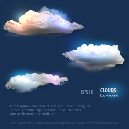 cloud: Cloud set for your design. Illustration
