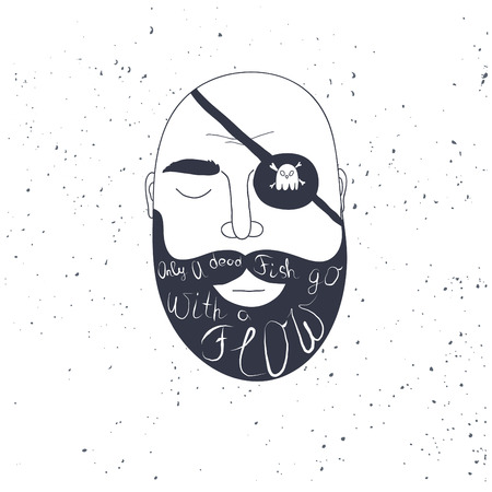 beard man: Beard man creative quote for your design.