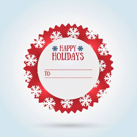 happy holidays: Happy holidays gift label design.