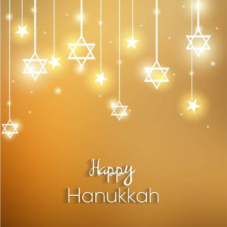 happy hanukkah: Happy Hanukkah colorful design.