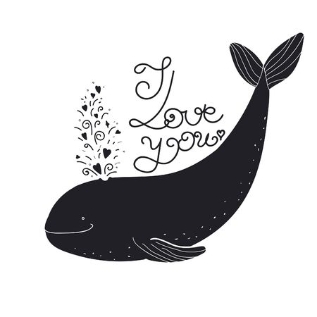 engagement cartoon: I love you quote cartoon whale.