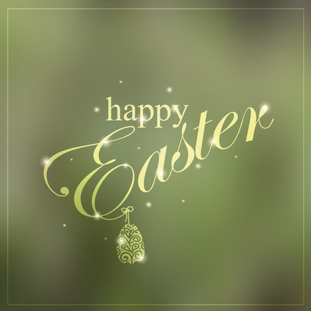Happy Easter colorful creative card.