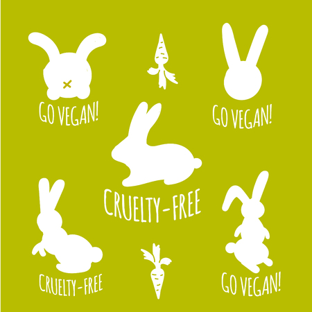 animal abuse: Stop cruelty eco-friendly badges.