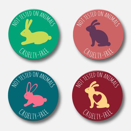 Stop cruelty eco-friendly badges.