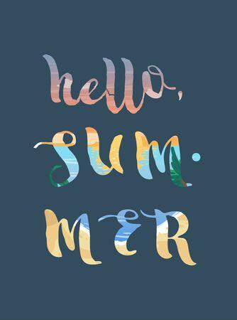 Hello summer super colorful triangle design