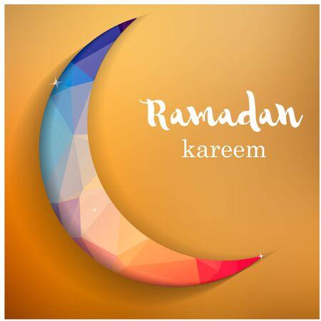 Ramadan greetings background. Ramadan Kareem means Ramadan the Generous Month. Иллюстрация
