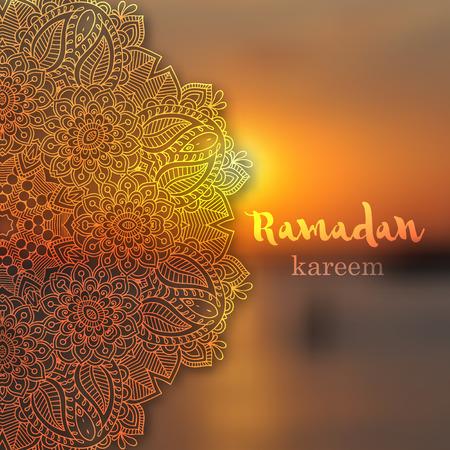 Ramadan greetings background. Ramadan Kareem means Ramadan the Generous Month. Illustration