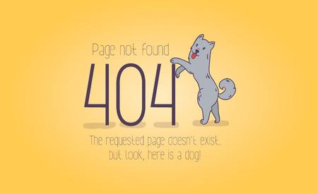 404 error page not found cartoon design. Иллюстрация