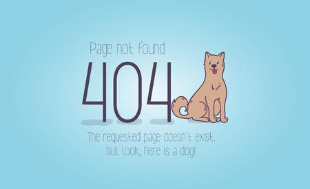 404 error page not found cartoon design. Illustration