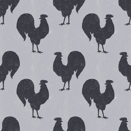 ornamental style rooster. Great for print, Holidays design.