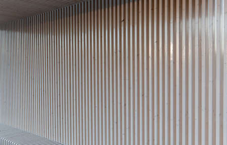 White wooden vertical  bench and canopy photo