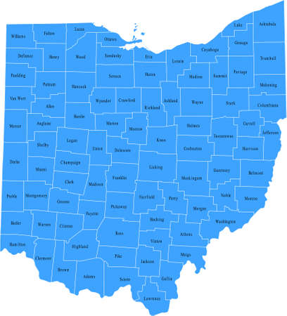 Ohio Kaart