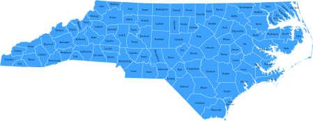 North Carolina Kaart