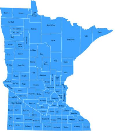 Minnesota Kaart Stock Illustratie