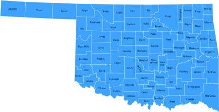 Oklahoma Kaart