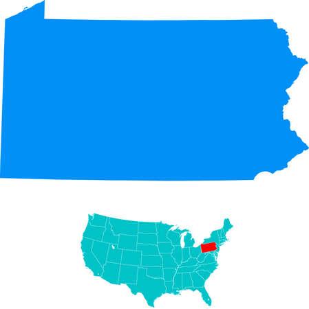 Pennsylvania Kaart