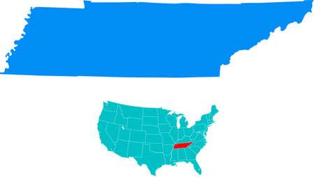 Tennessee Kaart Stock Illustratie