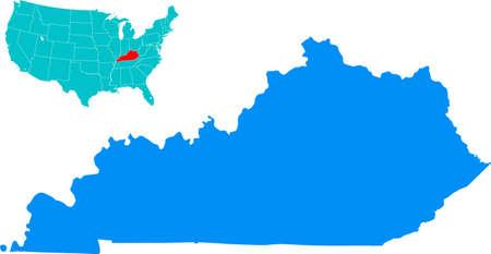 kentucky: Kentucky Map Illustration