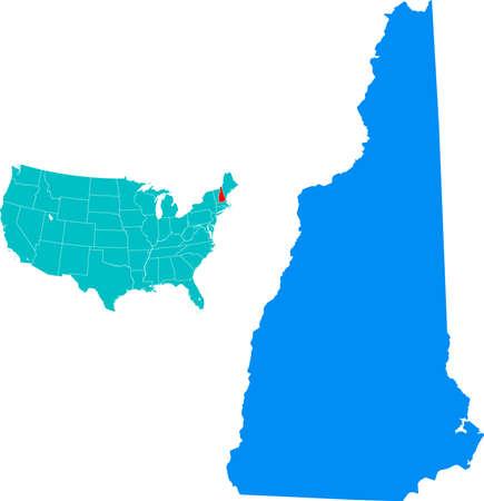 hampshire: New Hampshire Mapa