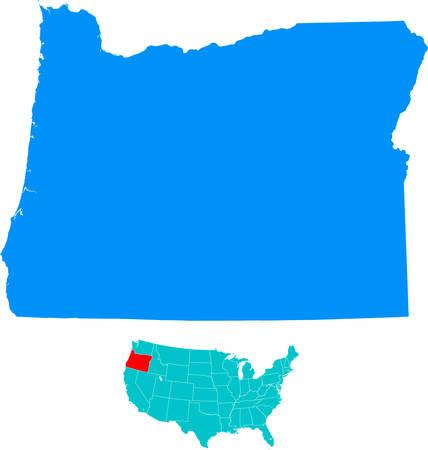 Oregon Kaart
