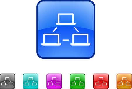 rete di computer: rete di computer  Vettoriali