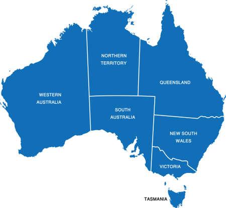 オーストラリア地図  イラスト・ベクター素材