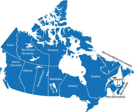 Canada Map Ilustrace