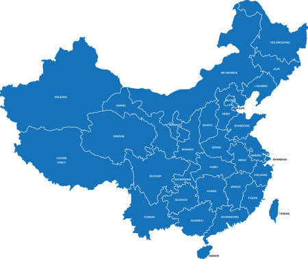 中国の地図  イラスト・ベクター素材
