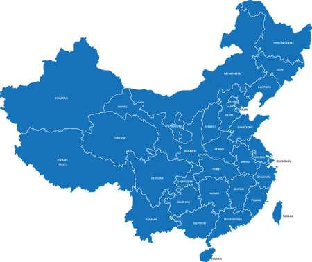 중국지도 일러스트