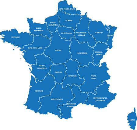 europa: France Map Illustration