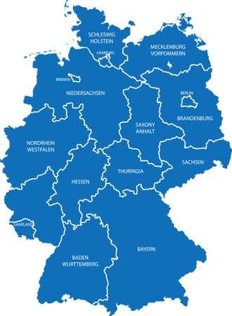 Duitsland Kaart Stock Illustratie