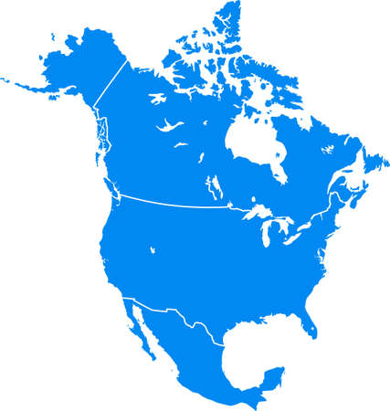 travel map: North America Illustration