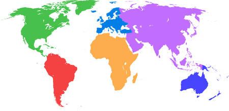 mapa politico: Mapa del mundo Vectores
