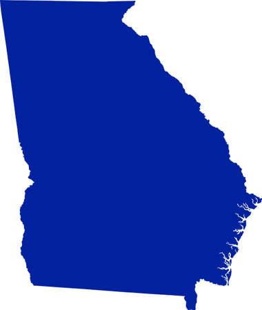 Georgia Map Ilustracja