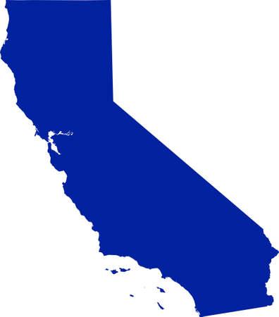 Kaart van Californië Stock Illustratie