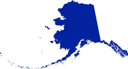 Alaska Map Иллюстрация