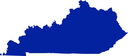 Kentucky Map Ilustrace