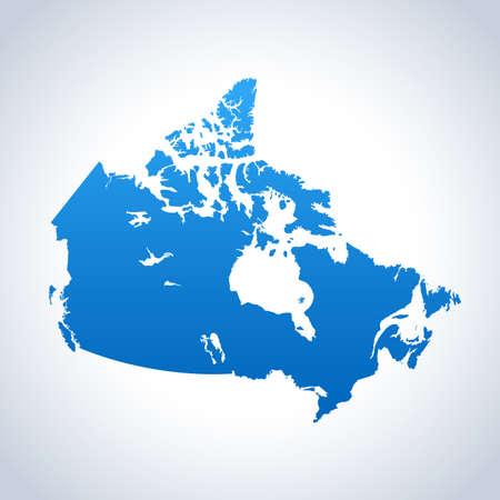 Canada Map 일러스트