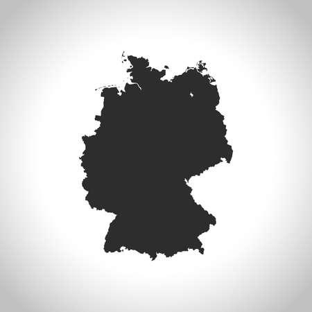 map of Germany Ilustracja