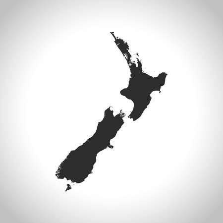new zealand: map of New Zealand Illustration
