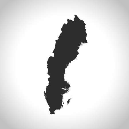 sweden: map of Sweden