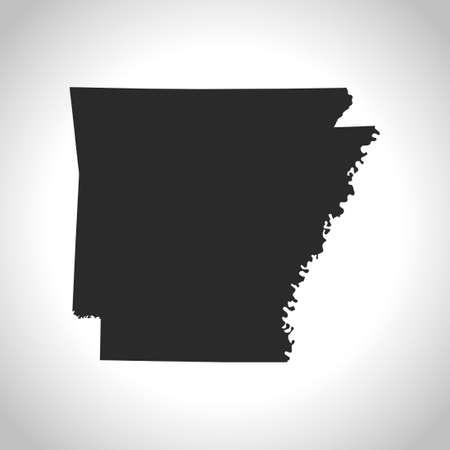 arkansas: map of Arkansas