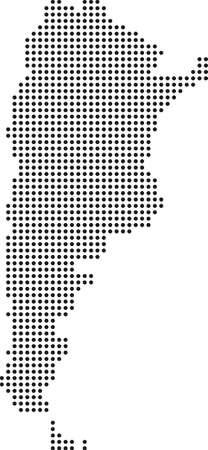 map of Argentina Ilustracja