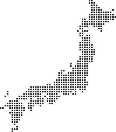 Carte du Japon Banque d'images - 67376781