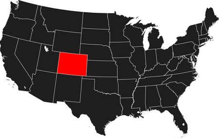 kaart van Colorado Stock Illustratie
