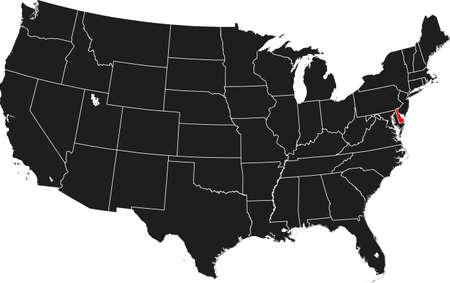 kaart van Delaware